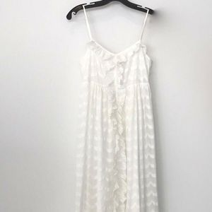 JUICY COUTURE LONG WHITE COTTON DRESS SZ 4 NWOTS!